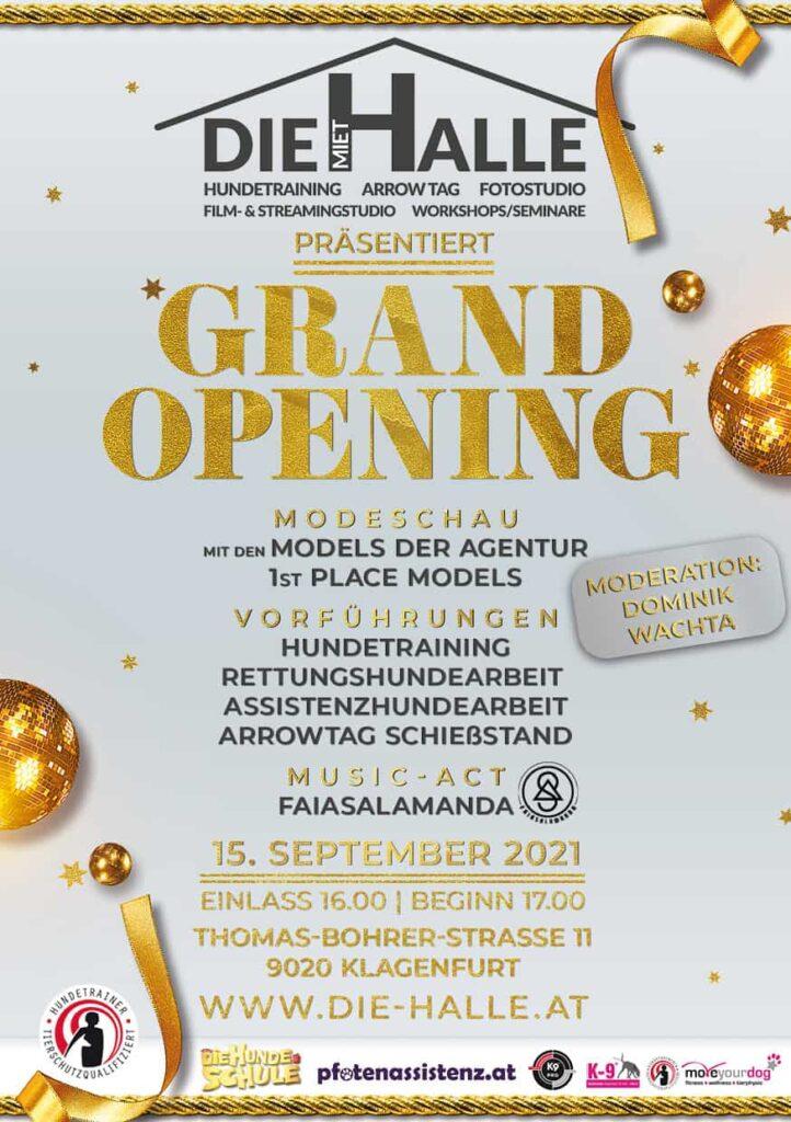 Flyer GRAND OPENING dieHalle Klagenfurt